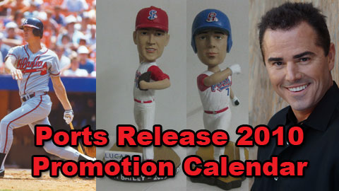 Dale Murphy, Andrew Bailey, Grant Desme, and Christopher Knight are featured on the 2010 Ports Promotion Calendar.